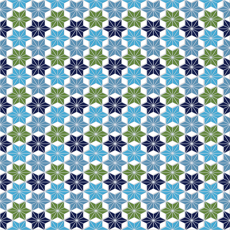 alhambra: Seamless pattern in Moroccan style. Colorful mosaic tile Illustration