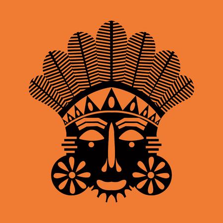 Design maschera tribale, arte astratta Archivio Fotografico - 78769332