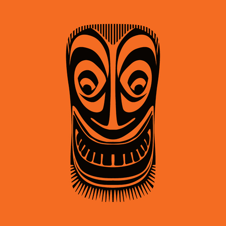 mexican ethnicity: Tribal mask design, abstract art
