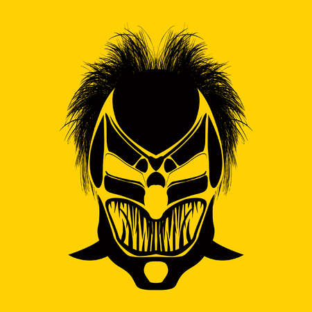 Tribal mask design, abstract art
