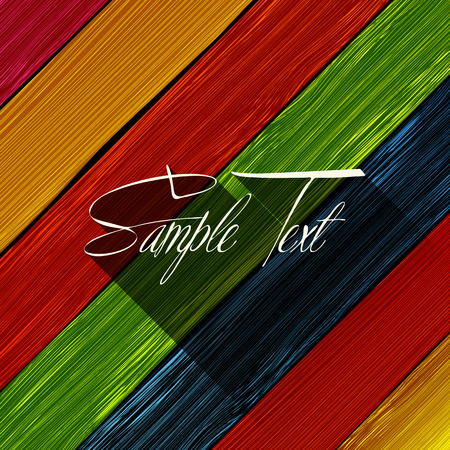 Colored wooded background with room text