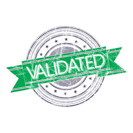 validated: Validated grunge rubber stamp on white Illustration