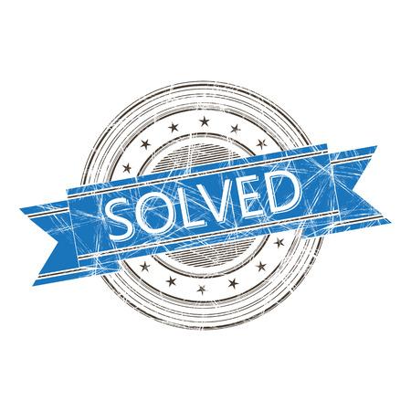 solved: Solved grunge rubber stamp
