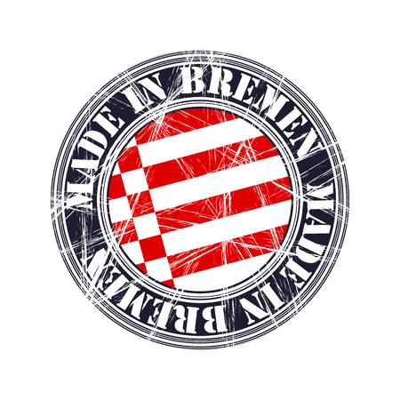 old stamp: Bremen city vector grunge rubber stamp