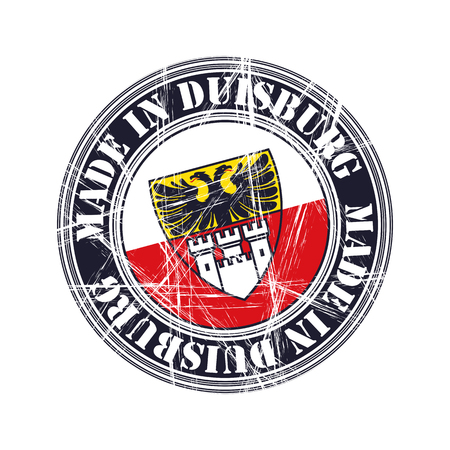 old stamp: Duisburg city vector grunge rubber stamp
