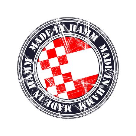 Hamm city vector grunge rubber stamp