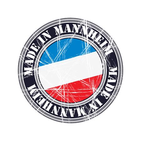 Mannheim city vector grunge rubber stamp