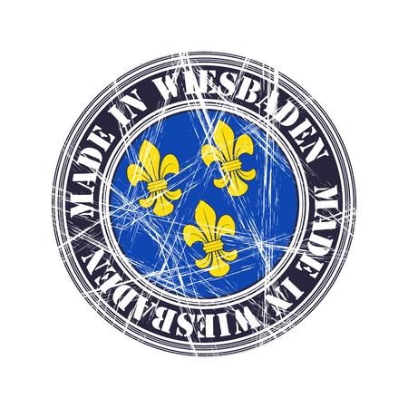 Wiesbaden city vector grunge rubber stamp Illustration