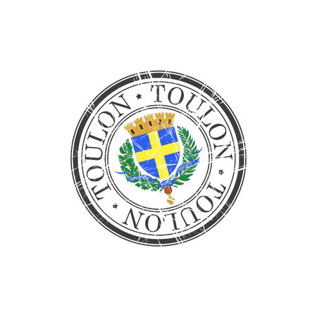 toulon: Toulon city grunge rubber stamp on white