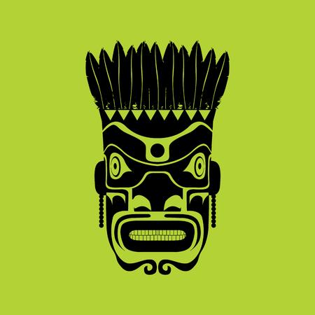 primeval: Tribal mask design, abstract art