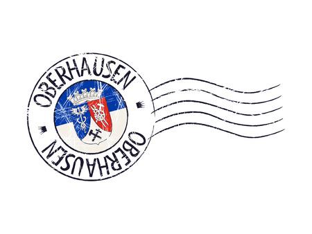 popular: Oberhausen city grunge postal rubber stamp against white background