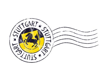 popular: Stuttgart city grunge postal rubber stamp against white background