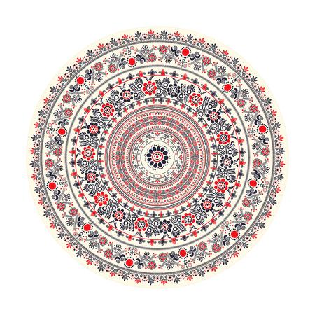 Traditional round decorative element