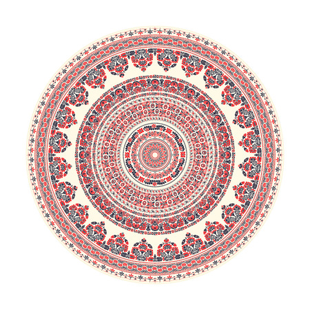 Traditional Hungarian round decorative element