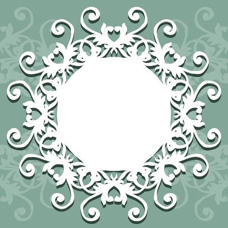 あなたのテキストや写真エレガントなデザインベクトルイラストのためのラウンドレースナプキンのコレクションそれは、写真、グリーティングカ