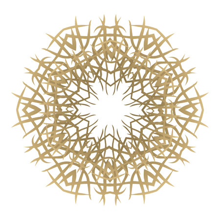 Round Ornament on white Background. Template of Decorative Frame. Illustration