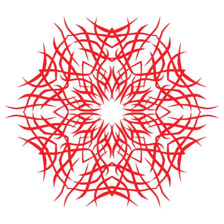 Round Ornament on white Background. Vector Vintage Symbol for Logo, Stamps, Restaurants, Cafes, Shops. Banco de Imagens - 92445685