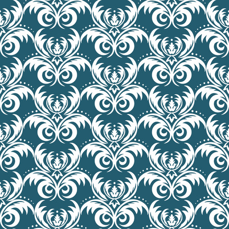 Floral damask vector seamless pattern. Rich ornament, old Damascus style, royal Victorian seamless pattern for wallpapers, textile, wrapping, wedding invitation damask woman pattern.