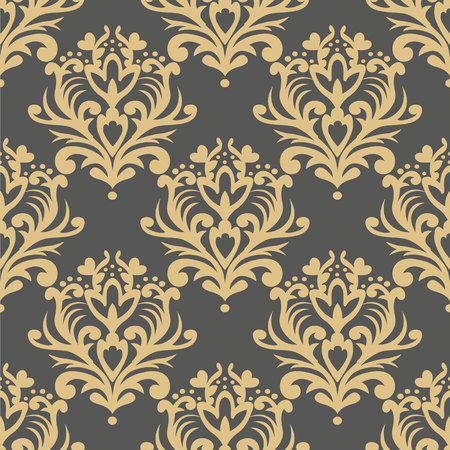 Vector seamless floral damask pattern. Rich ornament, old Damascus style. Royal victorian seamless pattern for wallpapers, textile, wrapping, wedding invitation.