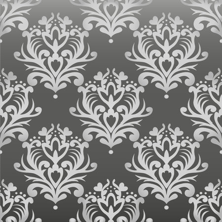 Vector floral damask pattern. Rich ornament, old Damascus style. Royal victorian seamless pattern for wallpapers, textile, wrapping, wedding invitation. EPS10