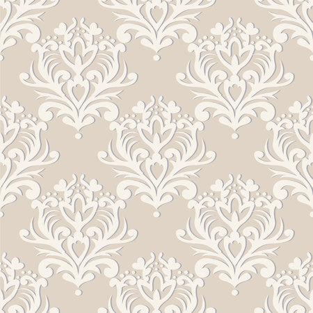 A Vector seamless floral damask pattern. Rich ornament, old Damascus style. Royal victorian seamless pattern for wallpapers, textile, wrapping, wedding invitation.