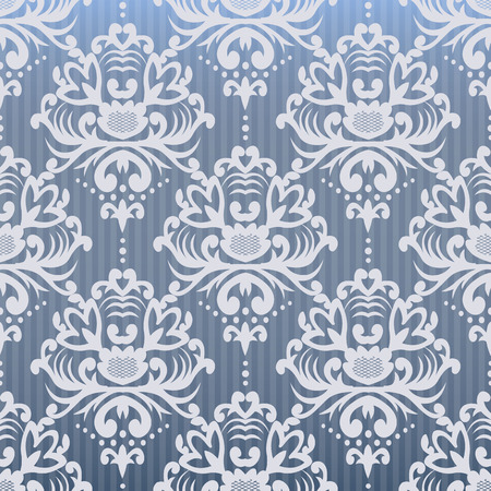 Vintage seamless pattern. Floral ornate wallpaper. Dark vector damask background with decorative ornaments and flowers in Baroque style. Luxury endless texture. Illusztráció