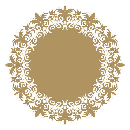 Vector baroque ornament in Victorian style. Ornate element for design.