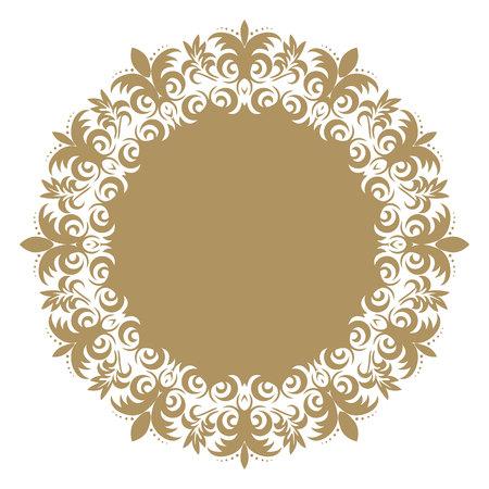 Vector baroque ornament in Victorian style. Ornate element for design.