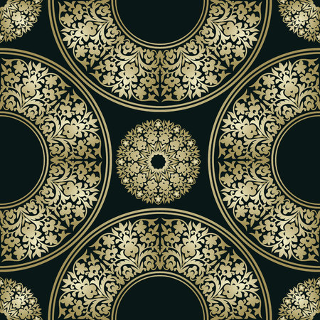 Seamless floral pattern. Oriental ornament. Element for design. Can be used for wallpaper, background, surface textures.