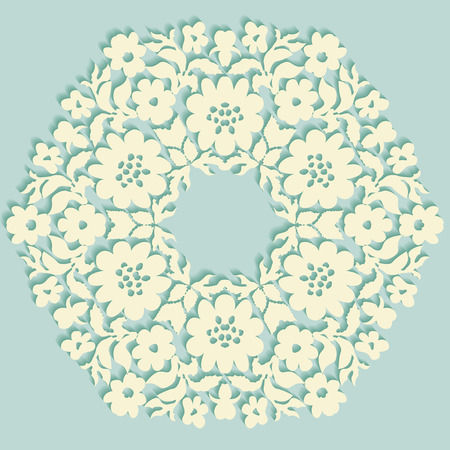 Round element for design. Can be used for wallpaper, background, surface textures.