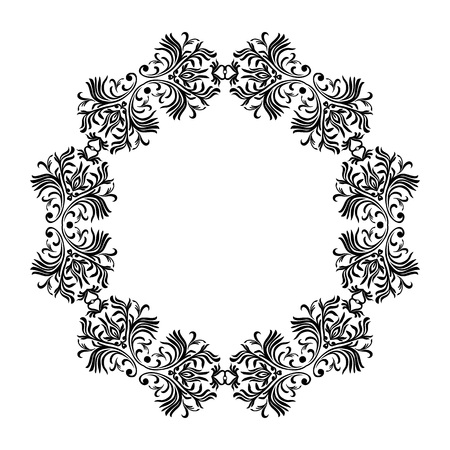 Vector decorative line art frames for design template. Elegant element for design, place for text. Floral border. Lace illustration for invitations and greeting cards