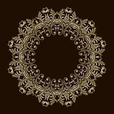 Round design element. Can be used for wallpaper, background, surface texture 向量圖像