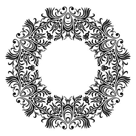 Decorative line art frames for design template. Elegant element for design, place for text. Black outline floral border. Lace vector illustration for invitations and greeting cards