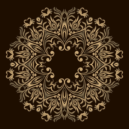 Abstract Flower design Mandala. Decorative round elements. Oriental pattern, vector illustration. Round design element. Can be used for wallpaper, background, surface texture