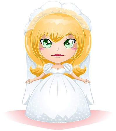 A vector illustration of a bride dressed for her wedding day. Stock Vector - 17560351
