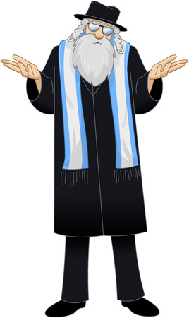 Vector illustration of a Rabbi saying I dont know Banco de Imagens - 27373937
