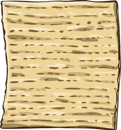 matzo: Vector illustration of Matzo Matza from the Jewish holiday Passover