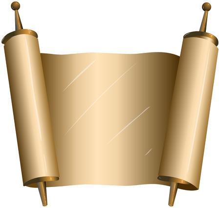 illustration of an open torah scroll Vector