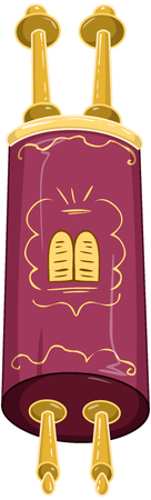 illustration of the Jewish Torah