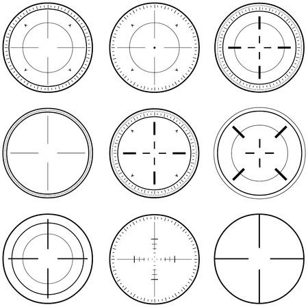 illustration pack of sniper target linearts.
