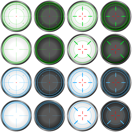 targets: illustration pack of sniper targets.