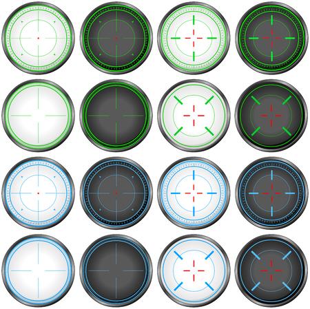 illustration pack of sniper targets.