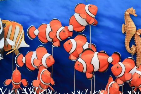 The colorful of  False Clown Anemonefish model  Stock Photo - 11501655