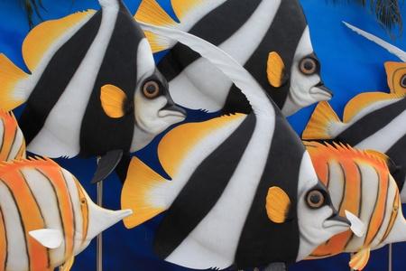 longfin: The colorful of  Longfin Bannerfishanimal model