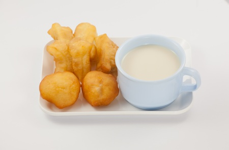 leche de soya: La leche de soya con desayuno