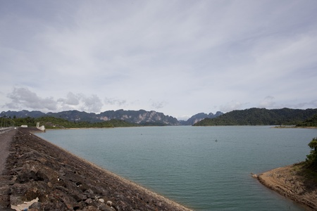 The beautiful view of Ratchaprapa dam ,Thailand photo