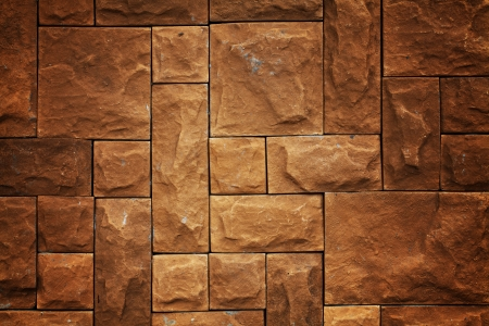 Yellow brick pattern background photo