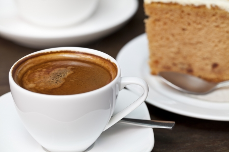 Espresso coffee with cake photo