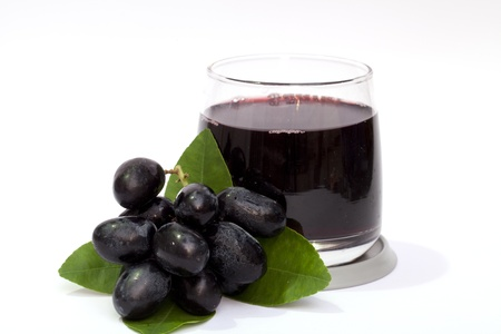 and grape juice: Grape and grape juice on the white background