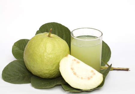 Guava isolated on the white background Stock Photo - 17740438